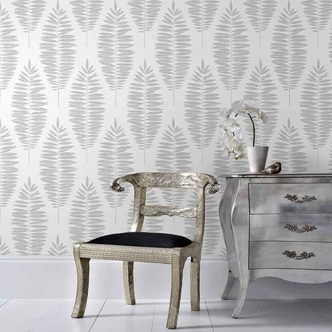 This Removable Wallpaper Lets You Update Your Home Without Commitment White And Silver Wallpaper Silver Removable Wallpaper Removable Wallpaper