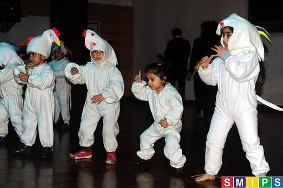 Lovely 'chickens' performing at a dance event