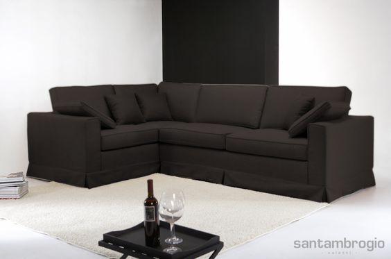 divano angolare brianza color testa di moro