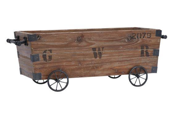 Wood Cart A Wood Storage Crate