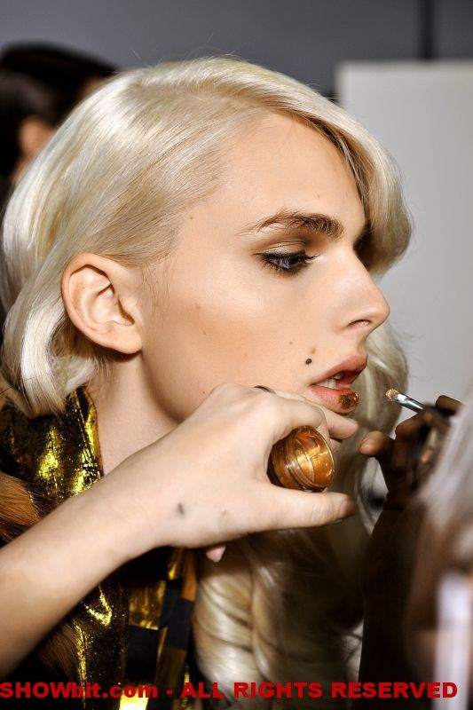 Andrej Pejic at Jean Paul Gaultier Backstage