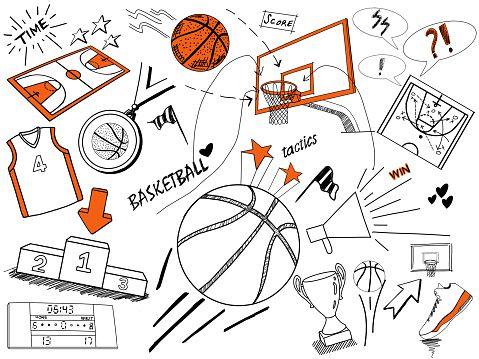 Basketball Sketches Basketball Doodle Ball Drawing Basketball Iphone Wallpaper