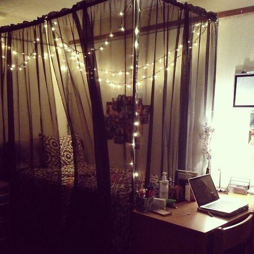 20+ Creative and Simple DIY Bedroom Canopy Ideas on A Budget | Dorm room canopy Diy dorm room and Sheer curtains & 20+ Creative and Simple DIY Bedroom Canopy Ideas on A Budget ...