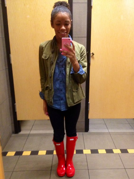 Red hunter boots ❤️