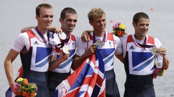 There were more medals for Team GB in rowing as the lightweight men's four - Chris Bartley, Richard Chambers, Rob Williams and Peter Chambers - won silver in a thrilling final at Eton Dorney. South Africa took the gold.