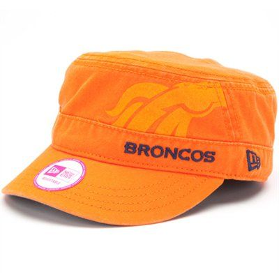 New Era Denver Broncos Ladies Goal-To-Go Military Adjustable Hat - Orange  #FanaticsWishList @Fanatics ®