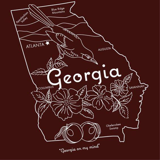 Georgia hand embroidery pattern digital pdf