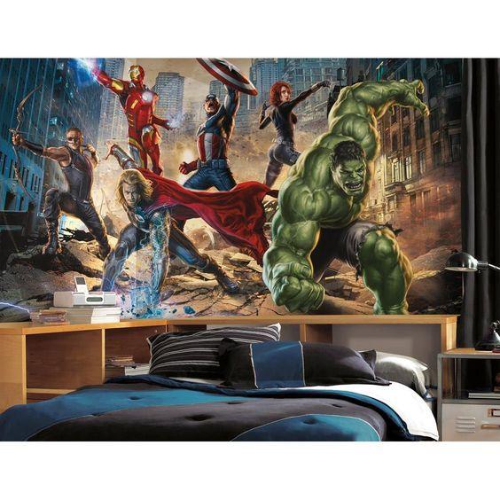 Mural Os Vingadores (Avengers) Marvel - Roommates @ CasaTema