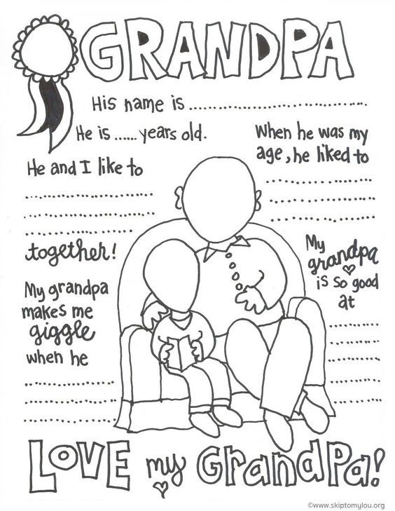 Grandparent Coloring Pages for Grandparents Day                              …