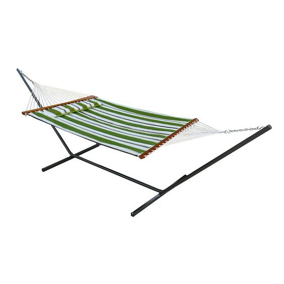 Smart Garden Santorini Double Wide Quilted Reversible Hammock,
