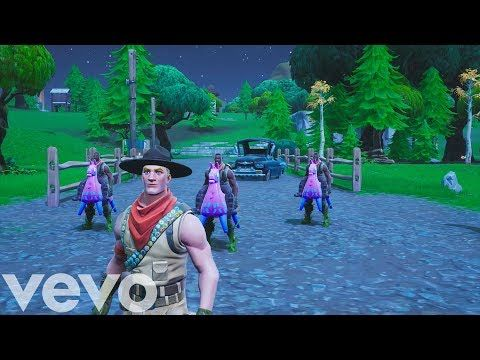 Old Town Road Official Fortnite Music Video Horses In The