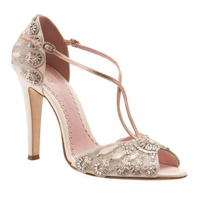 Vintage-inspired, intricate and elegant, these dainty t-bars will make the perfect pair of shoes for sporting on your big day.
