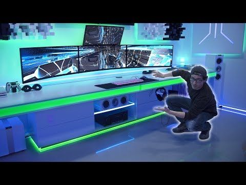 Best Custom Desk Of The World Ultimate Cable Management Youtube Custom Desk Cable Management Desk