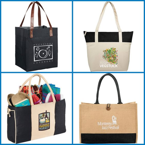 Promotional Products - Customized Jute Tote from HotRef.com