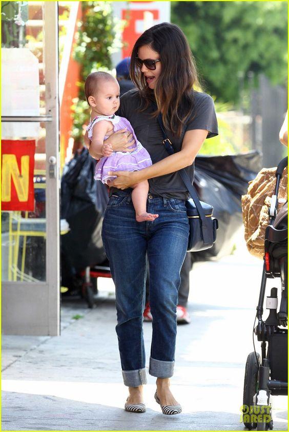 Rachel Bilson and baby
