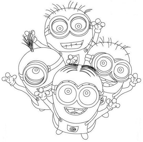 cute minions minions despicable me and coloring pages for