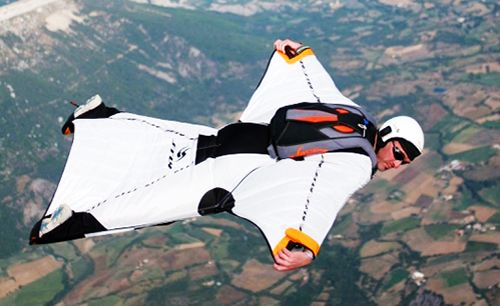 Wing-Suit Skydiving