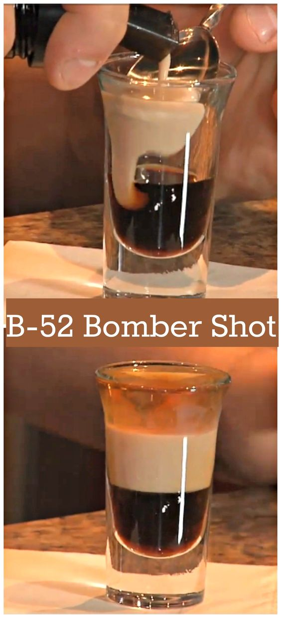 Learn how to make the classic layered shot, a B-52. This is a great shot if you love getting drunk quickly, it also tastes great too. Let us know what you think. http://www.ifood.tv/recipe/how-to-make-a-b-52-bomber-shot