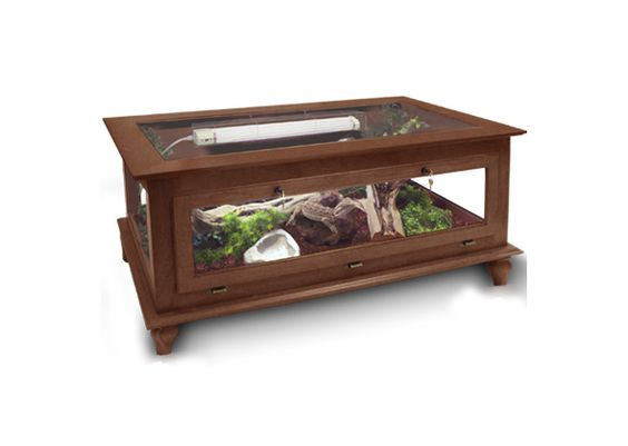 Cages by design coffee table reptile enclosure not all for Coffee table enclosure