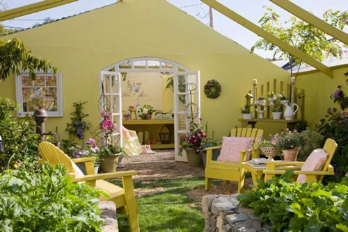 I love the idea of this -- a real garden room.
