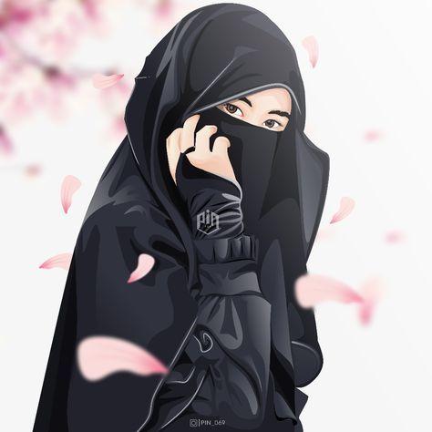 Jangan ragu dalam langkahmu.. #hijab #vector #niqob