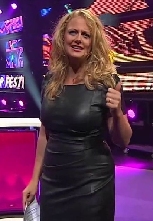 Barbara Schöneberger in Leather