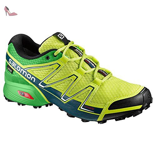 Salomon Sense Pulse, Chaussures de Course Femmes Bleu Blau (Mist Blue/Igloo Blue/Gecko Green) 42