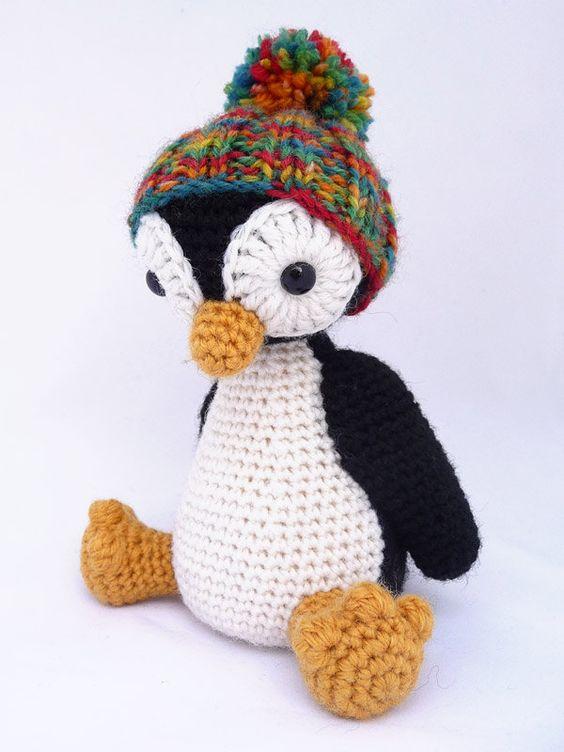 Kurbisse, Muster and Pinguin Hakeln on Pinterest