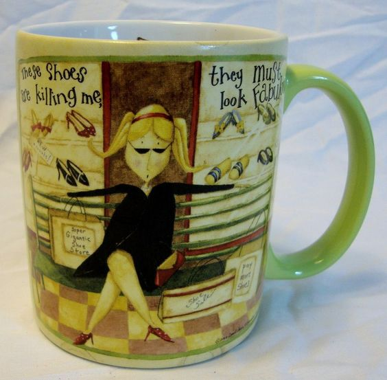 Lang These Shoes Coffee Mug Cup Shoe Shopping Sale