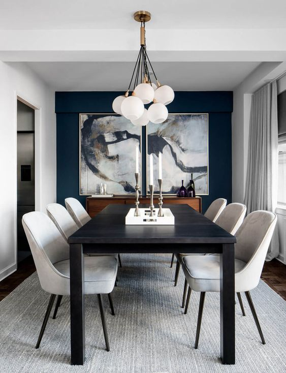 Tips For Displaying Your Artwork Black White Dining Room