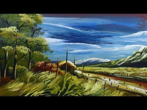 Landscape Nature Painting Acrylic Painting Tutorial Acrylic Painting Tutorials Nature Paintings Painting Tutorial