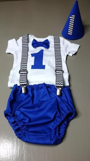 Erster Geburtstag-Outfit, Boy Kuchen Smash Outfit, Boy für Windel und Strapse, Partyhut