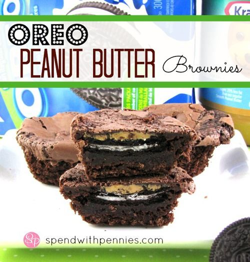 ...Oreo Peanut Butter Brownies! LOOK. @Karinananana