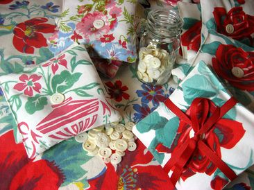 Thanks to my aunt Jane I have all the tablecloths I need!