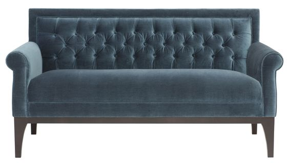 Faye Settee | Bernhardt  --  could look cool with dining room table?