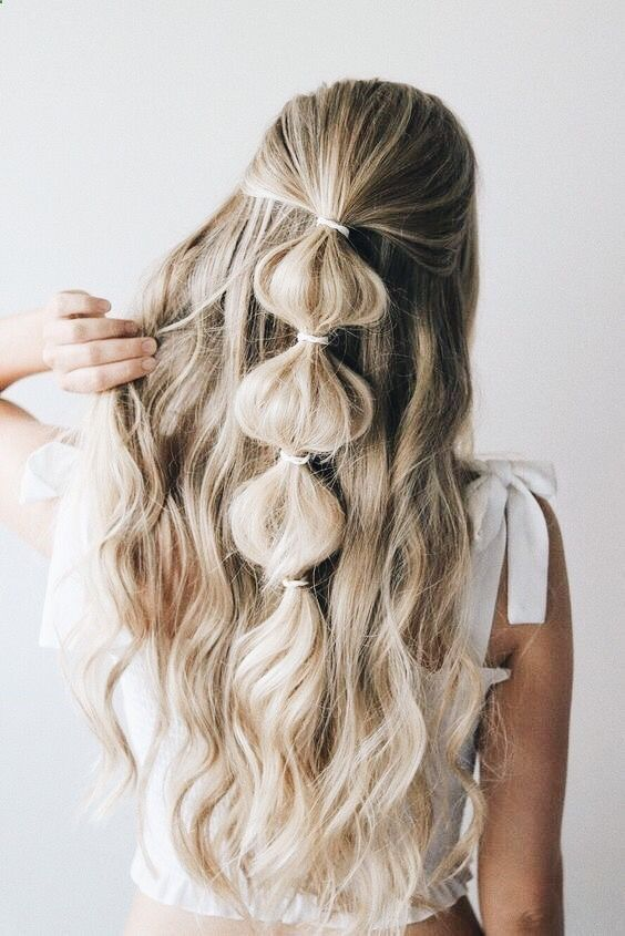 39 Gorgeous Half Up Half Down Hairstyles Hairstyles Casual Hairstyles For Long Hair Hair Styles Long Hair Styles