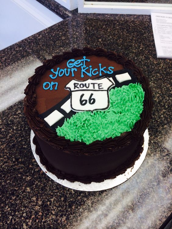 Route 66 Birthday Cake Birthday Cakes Pinterest