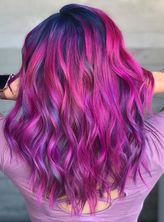 It Is Really Best Way To Mix Up The Purple And Blue Hair Colors Use To Wear This Fantastic Hair Colors C Hair Color Highlights Cool Hair Color Hair Dye Colors