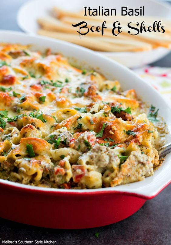 This scrumptious Italian Basil Beef And Shells casserole is one of these…