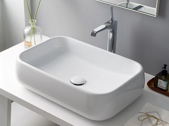 CIELO / SHUI RECTANGULAR 60 / シュイカウンター置き型洗面器 / 品番:CIE-SHLAA60/WH / サイズ:W600 D400mm / 標準価格(税抜):48,000円