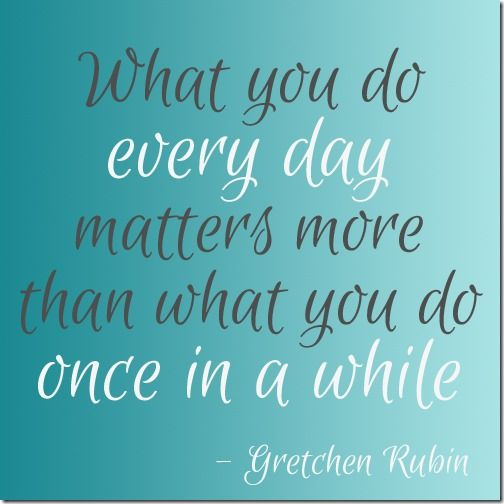 blog post - [personal development] what do you want to be able to say about yourself in a year? quote by Gretchen Rubin #happinessproject