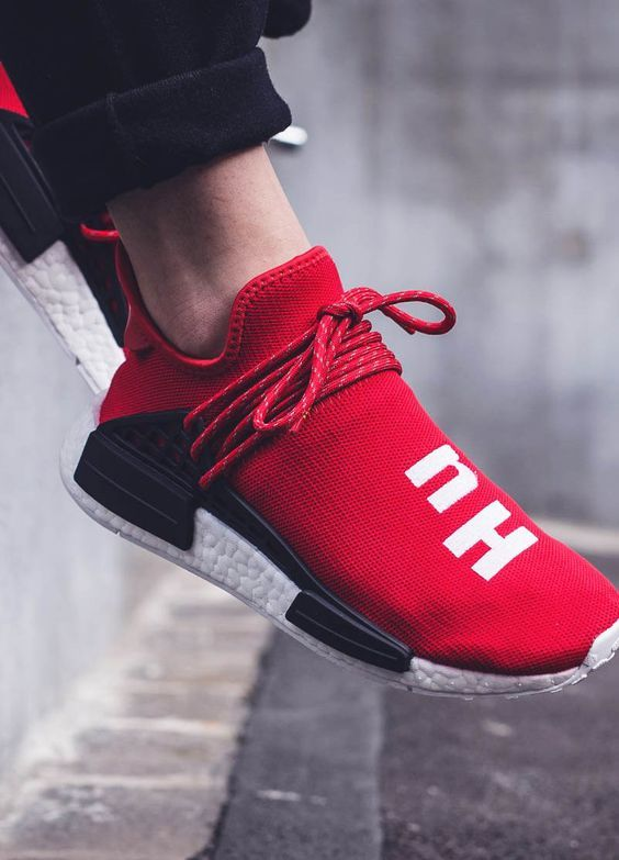 Adidas pharrell nmd human race bb0616 scarlet brand new
