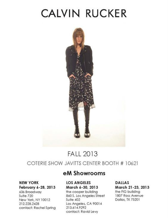 Our First Coterie Show Announcement and photo from our upcoming Fall 2013 Look Book... All photographed by the fabulous Peter Calvin!!! ox Joie