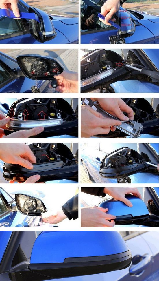 iJDMTOY Smoked Lens Dynamic Sequential Blink LED Side Mirror Turn Signal Light Strip Assembly For BMW 1 2 3 4 Series i3 F20 F21 F22 F30 F32