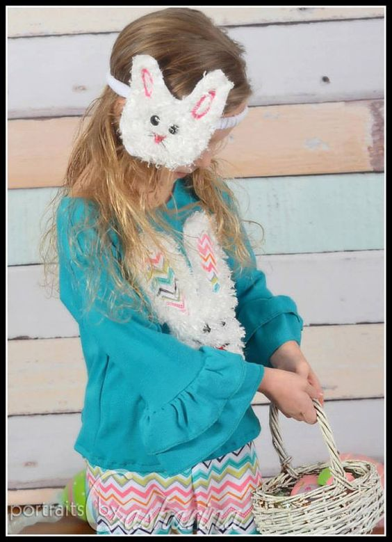 Boutique Girls Fuzzy Easter Bunny Headband by SSBSimplySewBoutique, $9.00