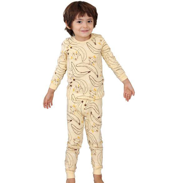 Tory Bam Toddler Boys Thermal Underwear Sets Sleepwear Banana X ...