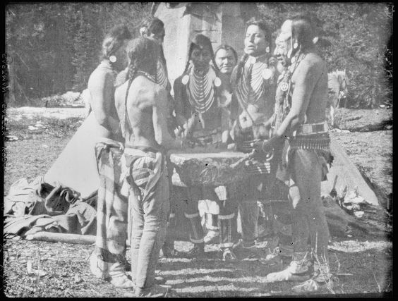 Blackfoot men singing Wolf song From: Walter McClintock papers: