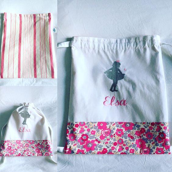 Sac à dos personnalisable pour enfant bleu-blond-rose.alittlemarket.com