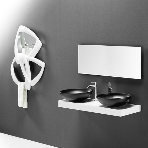 En sort håndvask i et smukt og elegant design