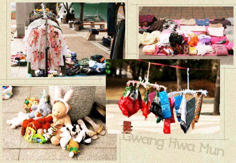 Những mặt hàng trong chợ trời Gwanghwamun Ảnh: visitkorea.org